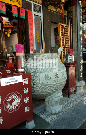 The Singapore Yu Huang Gong, or Temple of the Heavenly Jade Emperor. Telok Ayer Street, Chinatown, Singapore - Stock Photo