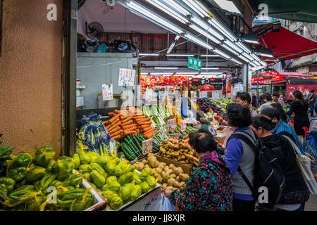 Greengrocer's Shop, Wan Chai, Hong Kong - Stock Photo
