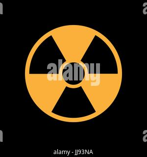 radiation icon in flat style, isolated symbol - Stock Photo