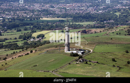 aerial view of Sutton Common BT Tower - Stock Photo