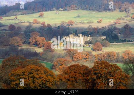 Sudeley Castle in autumn, Winchcombe, Cotswolds, Gloucestershire, England, United Kingdom, Europe - Stock Photo