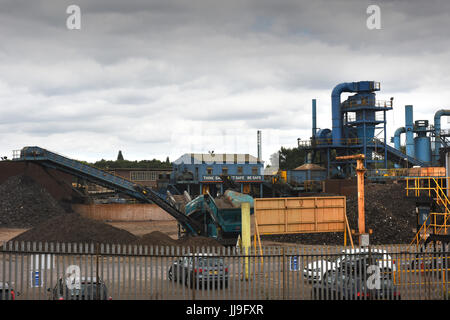 Scrap metal recycling site at Sims Metal Management in Smethwick, West Midlands. - Stock Photo