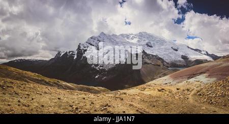Ausangate views in Peru near Rainbow mountains - Stock Photo