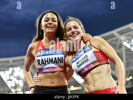 London, UK. 16th July, 2017. LONDON ENGLAND - July 16, 2017: during World Para Athletics Championships London 2017 - Stock Photo