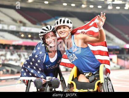 London, UK. 15th July, 2017. LONDON ENGLAND - July 15, 2017: during World Para Athletics Championships London 2017 - Stock Photo