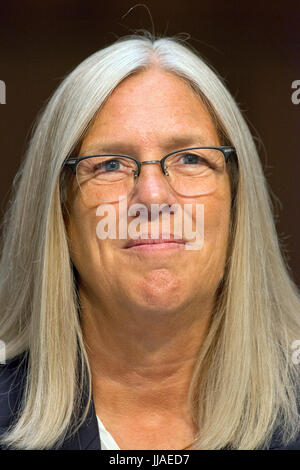Washington, USA. 19th Jul, 2017. Susan M. Gordon testifies on her nomination to be Principal Deputy Director of - Stock Photo