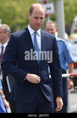 Berlin, Deutschland. 19th July, 2017. Der britische Prinz William besucht am 19.07.2017 das Holocaust Mahnmal in - Stock Photo