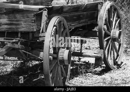 Old abandoned wagon - Stock Photo