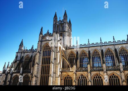 The Abbey Church of Saint Peter and Saint Paul, Bath, Somerset, UK - Stock Photo