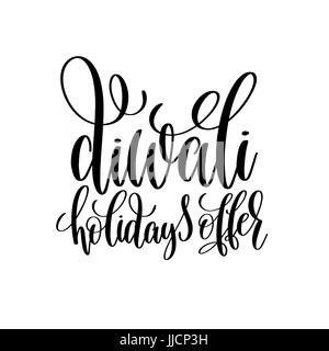 diwali holidays offer black calligraphy hand lettering text - Stock Photo