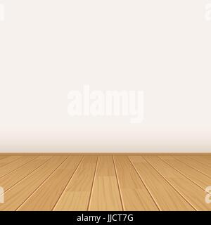 vector empty room with wall and wooden floor stock photo