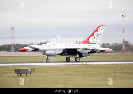 Air show at RAF Fairford,Gloucestershire, UK hosting the 2017 Royal International Air Tattoo on the occasion of - Stock Photo
