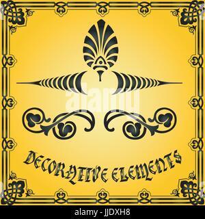 Decorative design elements and vector ornaments - Stock Photo