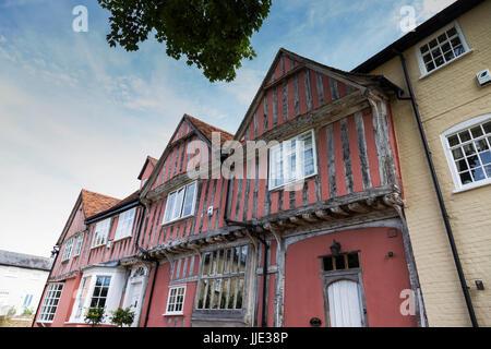 Half-Timbered House in Barn Street, Lavenham - Stock Photo