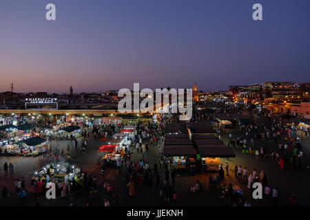 Marrakech medina, Morroco at night, - Stock Photo