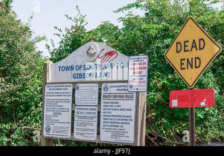 town of southampton, gibson beach, gibson lane, sagaponack ny - Stock Photo