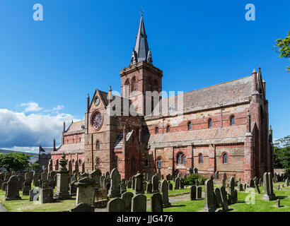 St Magnus Cathedral, Kirkwall, Mainland, Orkney, Scotland, UK - Stock Photo