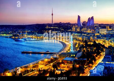 View of Baku, Azerbaijan - Stock Photo