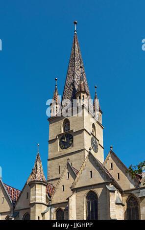 Sibiu Lutheran Cathedral, Romania - Stock Photo