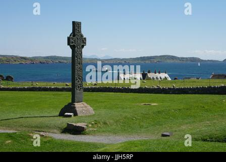 Iona Abbey, Argyll and Bute, Scotland - Stock Photo