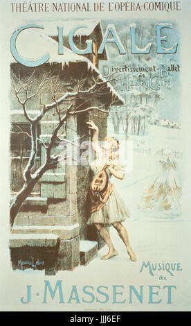 Cigale, ballet by Jules Massenet (1842 - 1912) choreographed by Henri Cain at the Theatre Nationale de l'Opera Comique. - Stock Photo
