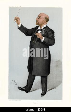 Sir Alexander Campbell Mackenzie -standing Vanity Fair caricature by Spy (real name Sir Leslie Matthew Ward 21 November - Stock Photo