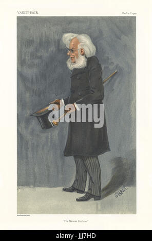 Henrik Ibsen - portrait standing. Vanity Fair caricature by SNAPP (identity unknown). Caption reads 'The Master - Stock Photo