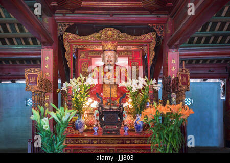 Temple of literature Hanoi Vietnam - Stock Photo