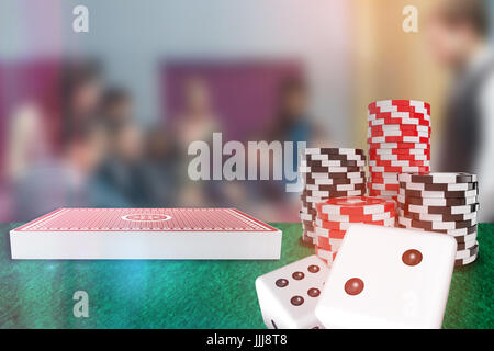 Composite image of 3d image of dice - Stock Photo