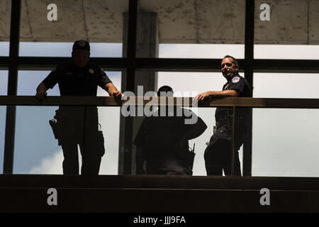 Washington, District Of Columbia, USA. 19th July, 2017. U.S. Capitol Police Officers stand in the Dirksen Senate - Stock Photo