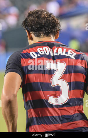 Omar Gonzalez of the USMNT United States Mens National Team enters the field of play after halftime of a soccer - Stock Photo