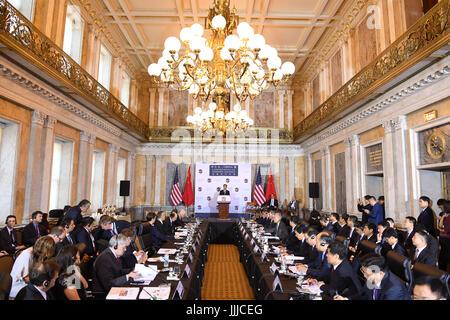 Washington, USA. 19th July, 2017. The first China-U.S. Comprehensive Economic Dialogue is held in Washington July - Stock Photo