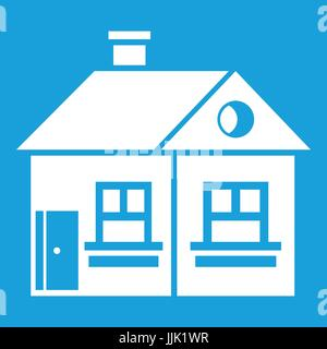 Large Single Storey House Icon White