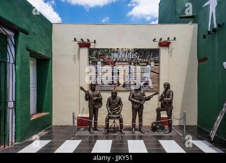 A music venue dedicated to BEATLES MUSIC - TRINIDAD, CUBA - Stock Photo