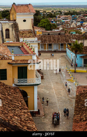 View from the bell tower of the CONVENT DE SAN FRANCISCO ASIS now the MUSEO NACIONAL DE LA LUCHA CONTRA BANDIDOS - Stock Photo