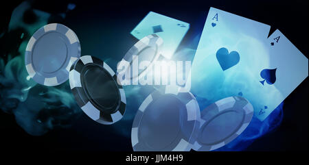 Composite image of illustration of 3d gambling chips - Stock Photo