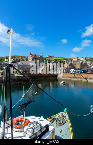 The harbour in Stromness, Mainland, Orkney, Orkney Islands, Scotland, UK - Stock Photo