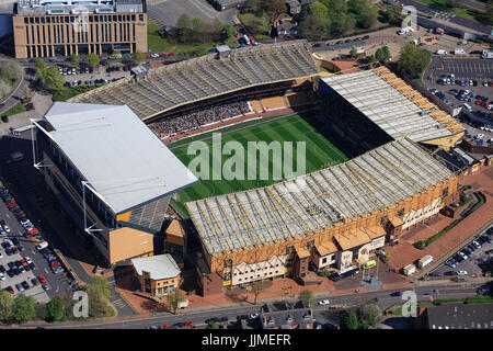 An aerial view of Molineux Stadium, home of Wolverhampton Wanderers FC - Stock Photo