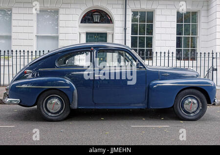 Classic Volvo PV544 car from 1950s - 1960s, London - Stock Photo