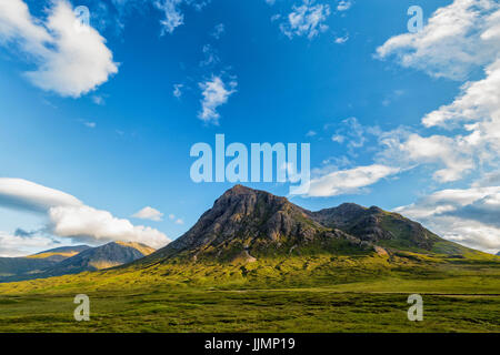 World famous Glencoe in the highlands of Scotland in summer. - Stock Photo