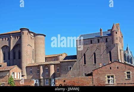 Toulouse-Lautrec museum, Berbie palace, Albi, Tarn, Occitanie, France - Stock Photo
