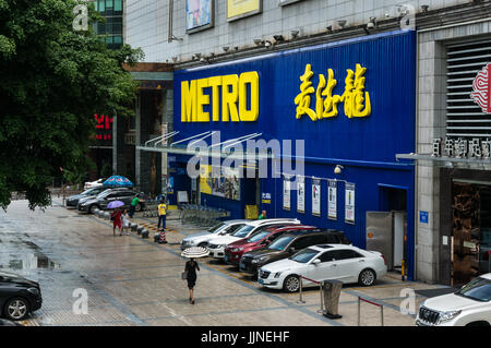 Metro Cash and Carry supermarket storefront in Shenzhen, China - Stock Photo