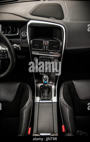 MOSCOW, RUSSIA - MAY 20, 2017 VOLVO XC60 POLESTAR, inerior view. Test of new Volvo XC60 Polestar. This car is AWD - Stock Photo