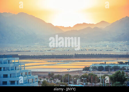 The Greatest Sunset in the Middle East - Stock Photo
