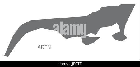 Aden Yemen governorate map grey illustration silhouette shape - Stock Photo