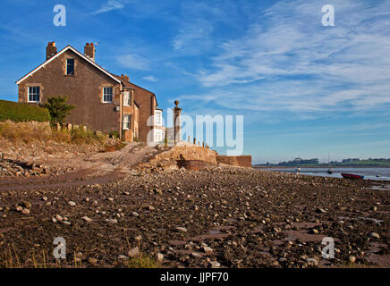 Property on the quayside at Sunderland Point - Stock Photo
