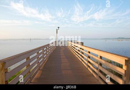 Fishing platform at Lake Toho, Kissimmee, Florida.