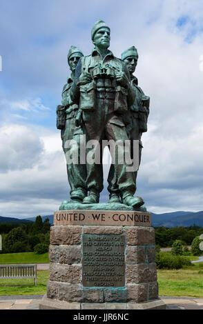 The Commando Memorial at Spean Bridge, near Fort William, Scottish Highlands, Scotland, UK - Stock Photo