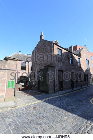 Exterior of Verdant Works Jute Mill Museum Dundee Scotland  July 2017 - Stock Photo