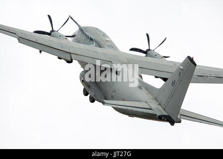 The Italian Alenia C-27J Spartan demonstrated its agility at RIAT 2017 - Stock Photo